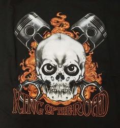 "T-shirt  "" King of the road  ""     Zwart"