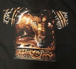 T-shirt voorkant en achterkant bedrukt