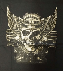 "T-shirt  "" Skull with wings ""   zwart"