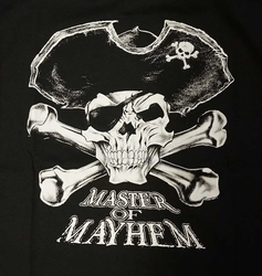 "T-shirt  "" Master of mayhen ""  zwart"