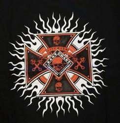 """T-shirt  """" East coast choppers """"  zwart"""