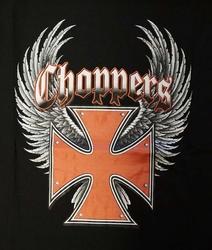"""T-shirt  """" Choppers """"   Zwart"""