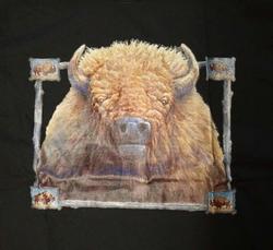 """T-shirt  """" Bizon """"  Zwart"""
