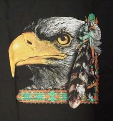 """T-shirt  """" Adelaarskop """"  Zwart"""