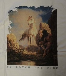 """T-shirt  """" To catch the wind """"   Wit"""