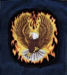 """Applicatie   """" Adelaar in vlammen """""""