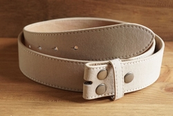 Suede buckle riem