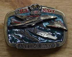 "Losse gesp  "" US Navy anytime baby ""  ( Vliegenier marine )"