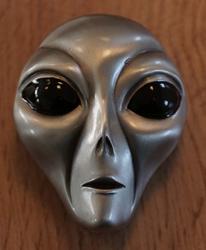 Science fiction buckle   Hoofd van Alien