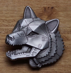 "Science fiction buckle  "" Robot wolf """