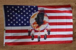 Amerikaanse vlag met dreamcather en adelaar