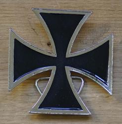 """Buckle / gesp  """" Maltezer kruis """"    UITVERKOCHT"""