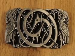 """Celtic buckle / gesp  """" Zonnekruis met triquetra knot  """""""