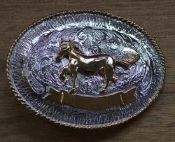 """Western gesp  """" Paard """"  Zilver- / goud kleurig"""
